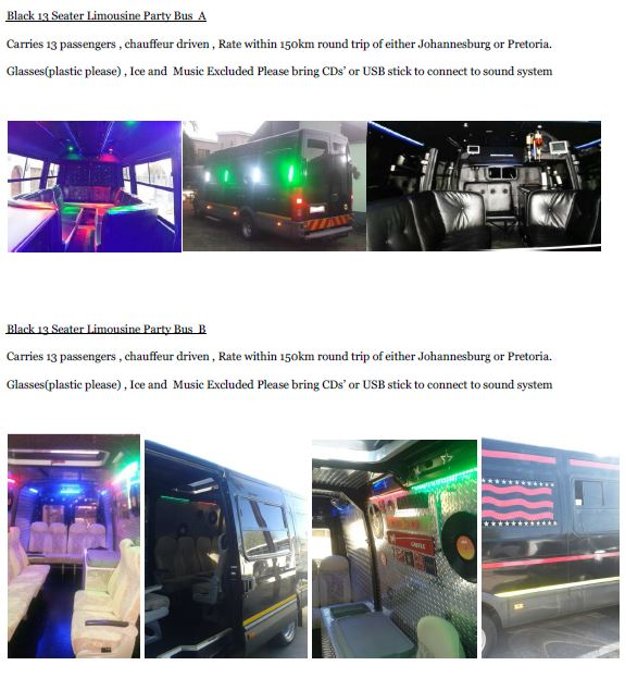 Black 13 Limo Party Bus JHB