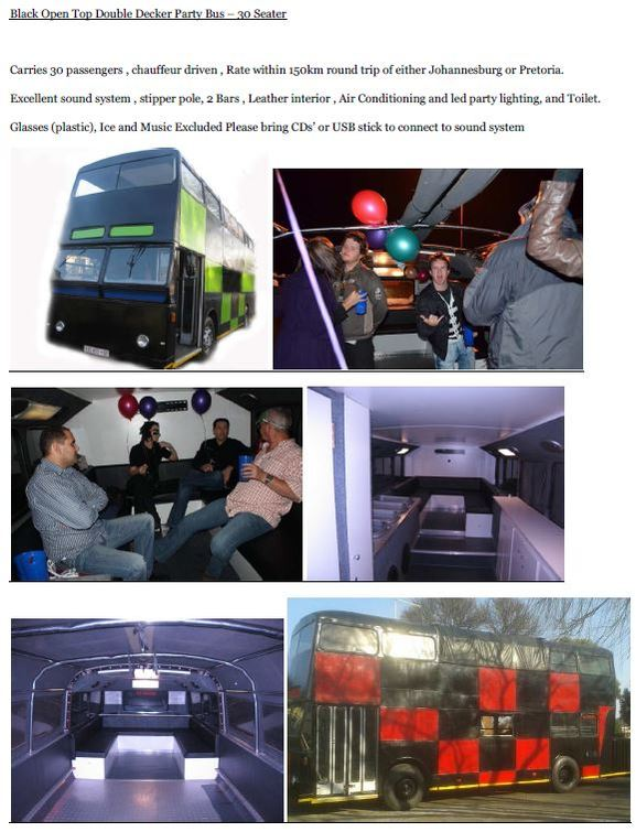 Silver Limo Party Bus hire